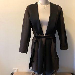 Zara suede-like coat